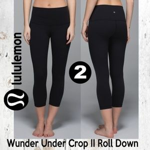 Lululemon Wunder Under Crop II Roll Down